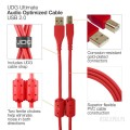 UDG ULT Cable USB 2.0A-B Red AG 1m